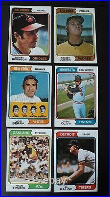 1974 Topps Baseball Complete Set+ All Traded+team Checklists, In Pages &binder