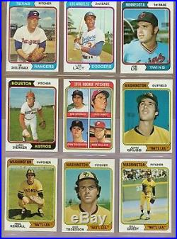 1974 Topps Baseball Complete Set with Red Checklists + ALL Variations EXMT/NRMT
