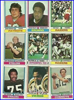 1974 Topps Football Complete Set with All Team Checklists & Wrapper