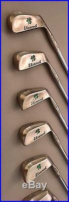 1975 Shamrock Irons 2-PW Stiff Flex Steel Golf Club Set All Original Rare