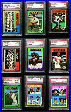 1975 Topps Baseball All-PSA Almost Complete Set 8 NM/MT