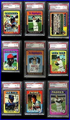 1975 Topps Baseball All-PSA Complete Set 8 NM/MT