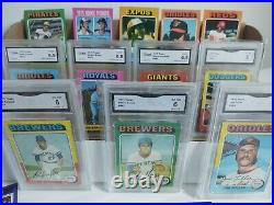 1975 Topps Baseball Partial Complete Set 553/660 Cards All Different