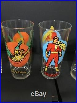 1976 DC Comics Pepsi Moon Glasses Full Set All 14 all are DC Comics label no NPP