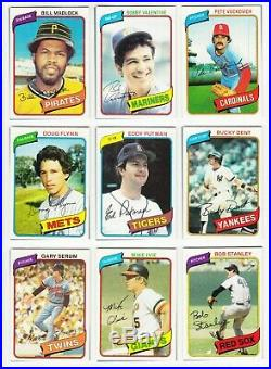 1980 Topps Complete Set NM-MT, in album Henderson RC, Ryan, Ozzie all PSA 8
