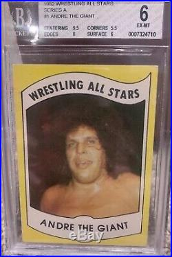 1982 Wrestling All Stars Andre the Giant Rookie #1 BGS 6 High Grade WWE WWF