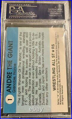 1982 Wrestling All Stars Andre the Giant Rookie #1 PSA 3 WWE WWF WrestleMania