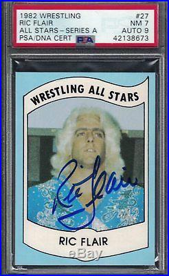 1982 Wrestling All Stars Card RIC FLAIR Wrestler AUTOGRAPHED PSA DNA Mint Rookie