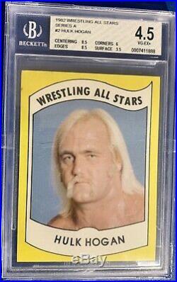 1982 Wrestling All Stars Hulk Hogan Rookie #2 BGS 4.5 Hulkamania WWE WWF HOT