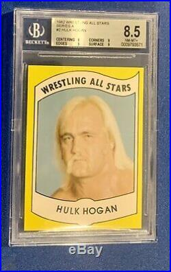 1982 Wrestling All Stars Hulk Hogan Rookie #2 BGS 8.5 Hulkamania High Grade WWE