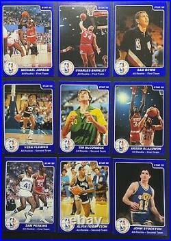 1984-85 STAR HSN ALL ROOKIE SET JORDAN OLAJUWON BARKLEY 1986 fleer 57 bgs psa 9