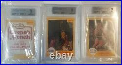 1984-85 Star Crunch N Munch Set MINUS MICHAEL JORDAN all BGS 9