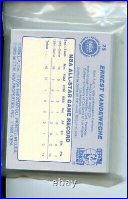 1984 Star All-Star Bird Magic Jabbar 25 Cards Original Sealed Team Set Bag