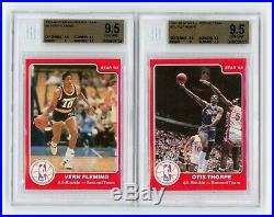 1985-86 STAR All-Rookie Team Partial Set (9/11) Jordan BGS 9, Olajuwon 9.5