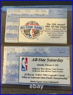 1985 Michael Jordan Rookie All Star Saturday-All Star Sunday ticket stub set