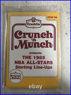 1985 STAR CRUNCH'n MUNCH NBA ALL STARS FACTORY SEALED BAG SET MICHAEL JORDAN