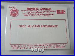 1985 Star All-Star Michael Jordan Rookie Card With Complete Set 10 Cards RARE
