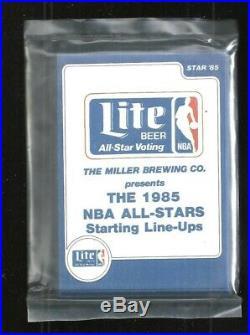 1985 Star Lite Beer 11-card Factory Sealed NBA All Star Set Michael Jordan