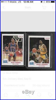 1985 Star Lite Beer All-Star Michael Jordan Rookie Set (Missing 1)