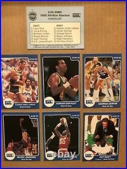 1985 Star Miller Lite All Star Set Rare Michael Jordan Rookie, Larry Bird, Magic