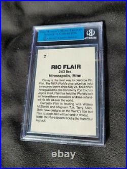 1985 Wrestling All Stars Ric Flair BGS Authentic #2 In The Set The Nature Boy