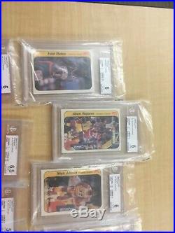 1986-87 Fleer Basketball Complete 132 card set All stickers Michael Jordan PSA 4