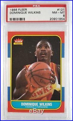1986 87 Fleer Basketball Complete Set ALL PSA 8 or higher Michael Jordan Rookie
