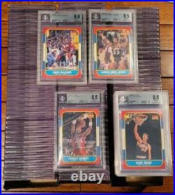 1986-87 Fleer Basketball Set All Graded BGS 8.5 Nm-Mt+ 119/132 Cards Iconic Set