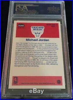 1986-87 Fleer Complete Sticker Set #1 #11 All Psa 9 Mint Michael Jordan Rookie