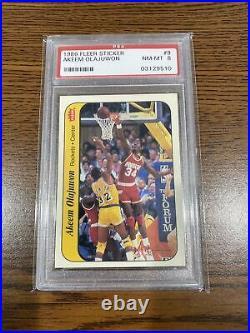 1986 Basketball Fleer Sticker Set All PSA 8 Michael Jordan Rookie RC
