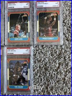 1986 FLEER BASKETBALL SET ALL PSA 9 without Michael Jordan, No Qualifiers