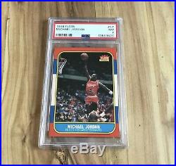 1986 FLEER Basketball Card Complete Set + Sticker Set ALL PSA Graded Jordan