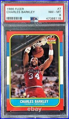 1986 FLEER COMPLETE SET WithSTICKERS MICHEAL JORDAN & OTHER KEY ROOKIES ALL PSA 8