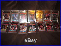 1986 Fleer Basketball 7 different Set Card Lot all graded BGS 9.5 Gem Mint