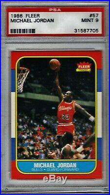 1986 Fleer Basketball Complete Set, Michael Jordan All Psa 9 (beautifull Set)