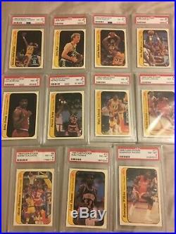 1986 Fleer Basketball Complete Sticker Set (1-11) ALL PSA 8! No Qualifiers