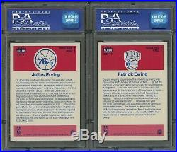 1986 Fleer Basketball Complete Sticker Set 1-11 All Psa 8 Nq Michael Jordan Rc
