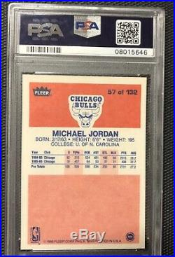 1986 Fleer Basketball Set (1-132) ALL CARDS PSA 9! No Qualifiers! JORDAN RC