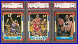 1986 Fleer Basketball Set Starter 30 Different Cards All Psa 10 Gem Mint