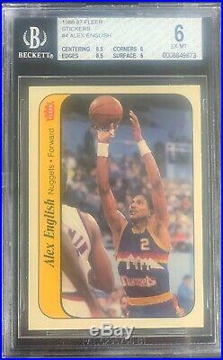 1986 Fleer Basketball Sticker Set All Bgs Graded With Michael Jordan Rc Ex-mt++