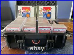 1986 Fleer Complete Set 143/143 All Graded PSA 8 (new label) Jordan RC & Sticker