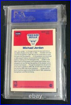 1986 Fleer Complete Set 143/143 All Graded PSA Avg 8.5 Jordan RC & Sticker PSA 8