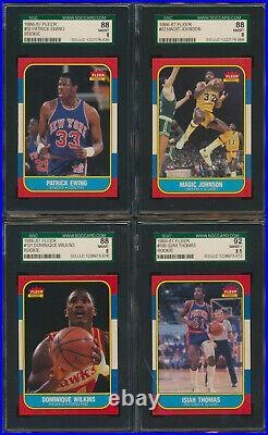 1986 Fleer Complete Set MICHAEL JORDAN Rookie BGS 8.5 1-132 all graded PSA SGC