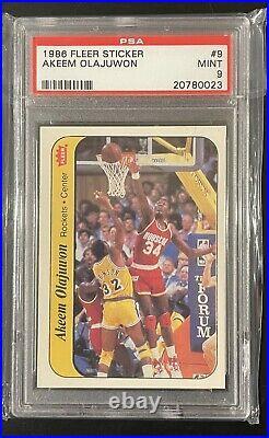1986 Fleer Sticker Basketball Complete Set with Michael Jordan & Kareem ALL PSA 9