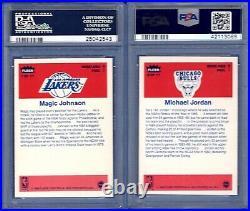 1986 Fleer Sticker Basketball Complete Set with Michael Jordan RC ALL PSA NMMT 8