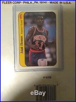 1986 Fleer basketball Lot WithOriginal Michael Jordan Rookies All Star Set & Box