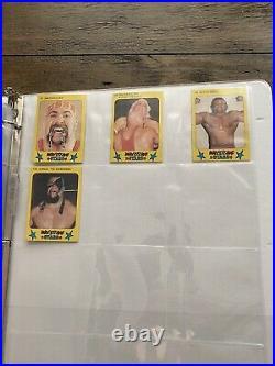 1986 Monty Gum Wrestling All Stars Complete Set of 100 Hogan Flair Savage WWF