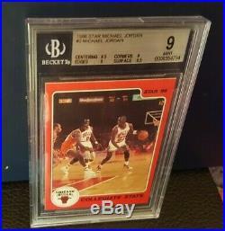 1986 Star MICHAEL JORDAN Complete 10-CARD SET All Beckett Rated. Rare