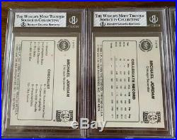 1986 Star Michael Jordan 10 Card Complete Set All Graded BGS! Nice Clean Set