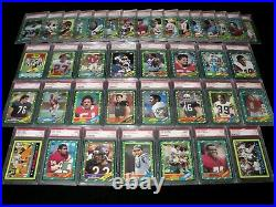 1986 Topps Football Set Lot Of 39 Diff All Psa Mint 9 No Qual & Centered No Rice